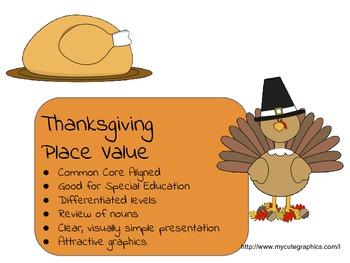 Thanksgiving Place Value Bundle