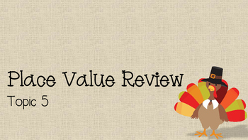 Thanksgiving Place Value Review
