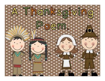 Thanksgiving Poem Writing Unit