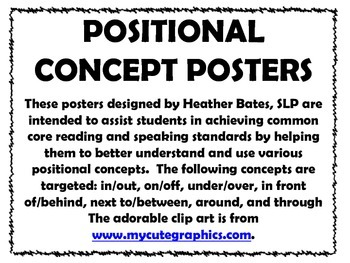 Thanksgiving Positional Terms Posters