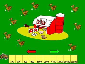 "Thanksgiving Powerpoint Game: ""Turkey Trot"""
