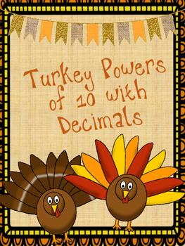 Turkey Powers of 10 with Decimals