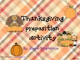 Thanksgiving Preposition Activity
