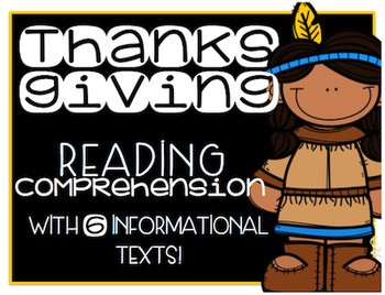 Thanksgiving Primary Informational (Non-Fiction) Text Pack