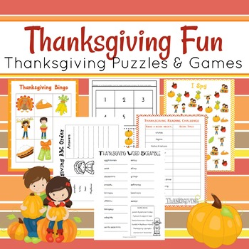 Thanksgiving Printable Activity Pack