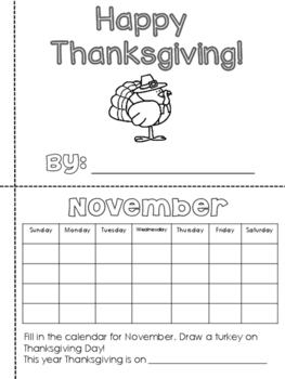 Thanksgiving Printable Book