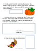 Thanksgiving Problem Solving Packet