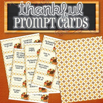 Thanksgiving Prompt Cards/Conversation Starters
