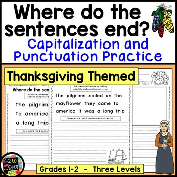 Thanksgiving Punctuation and Capitalization; Where do the