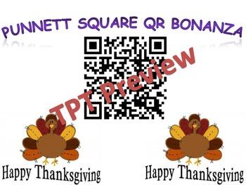 Thanksgiving Punnett Squares QR Code Genetics Review
