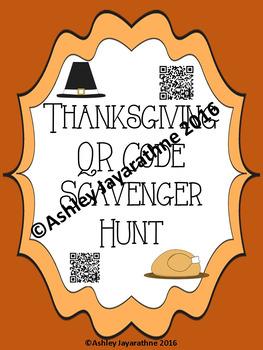 Thanksgiving QR Code Scavenger Hunt