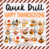 Thanksgiving Quick Drill {for articulation or fluency ther