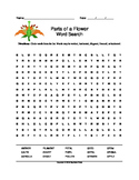 Parts of a Flower Word Search (Grades 5-8)
