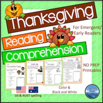 Thanksgiving Reading Comprehension Worksheets