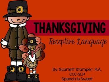 Thanksgiving Receptive Language