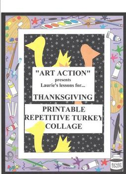Thanksgiving Repetitive Turkey Collage-FREE