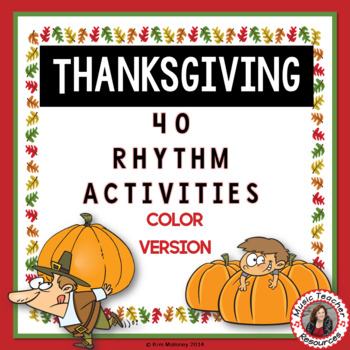 Thanksgiving Rhythm Activities - color
