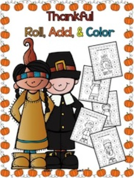 Thanksgiving - Roll, Add, & Color