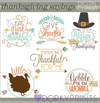 Thanksgiving Sayings Clip Art