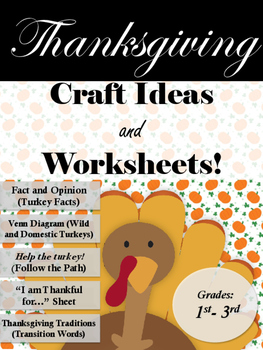 Thanksgiving Season- Craft Ideas and Writing Worksheets