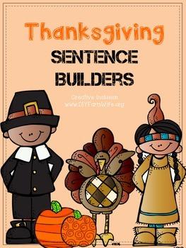 Thanksgiving Sentence Builder