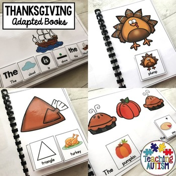 Thanksgiving Sentence Building Pack, Adapted Books