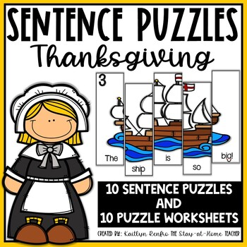 Thanksgiving Sentence Puzzles