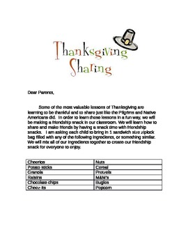 Thanksgiving Share Snack