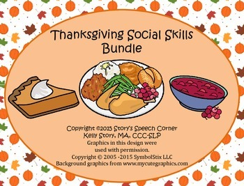 Thanksgiving Social Skills Unit