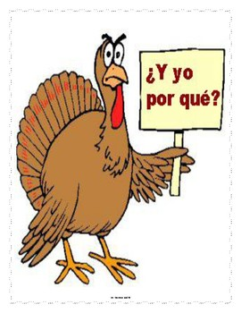 Spanish Dia de la Acción de Gracias Lesson Materials