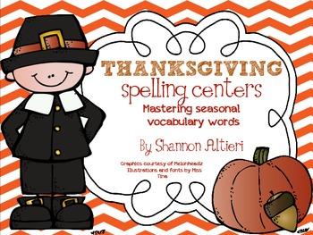 Thanksgiving Spelling Centers: {Mastering Seasonal Vocabul