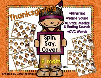 Thanksgiving Spin, Say, Cover!  6 Mats; Color and B&W