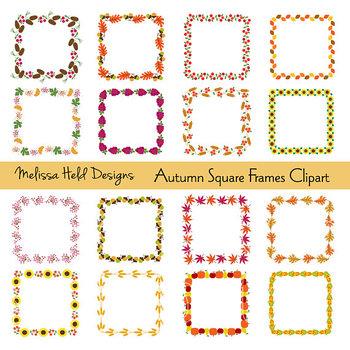 Clipart: Thanksgiving Square Frames Clip Art