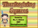 Thanksgiving Squares Review Game Template - Smart Notebook File