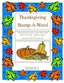 Thanksgiving Stamp - A - Word Literacy/Word Work Center
