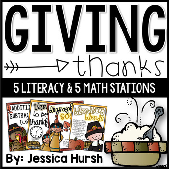Thanksgiving Stations {10 Literacy and Math Stations}