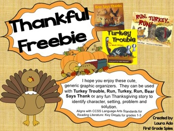 Thanksgiving Story Organizers for stories - Turkey Trouble