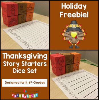 Thanksgiving Story Starters Writing Support Dice Set - Sea