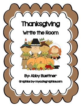Thanksgiving Story Write the Room