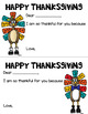 Thanksgiving Student Notes