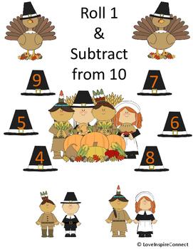 Thanksgiving Subtraction Bump Game