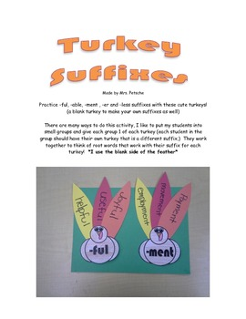 Thanksgiving Suffixes