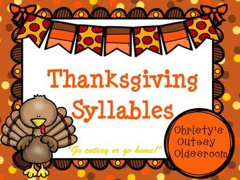 Thanksgiving Syllables