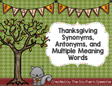 Thanksgiving Synonyms, Antonyms, and Multiple Meaning Words