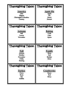 Thanksgiving Taboo