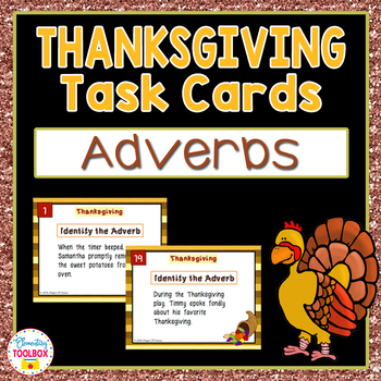 Thanksgiving Adverbs Task Cards