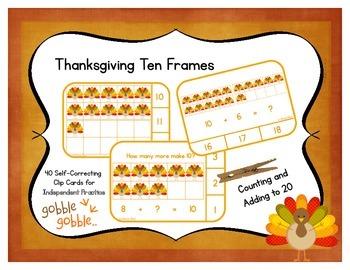 Thanksgiving Ten Frames