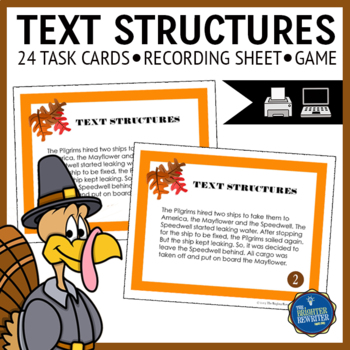 Text Structures Thanksgiving Task Cards