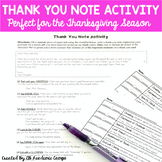 Thank You Note Activity