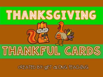 Thanksgiving Thankful Cards